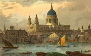 Watercolor of St. Paul's Cathedral by Thomas Hosmer Shepherd